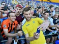 Сборная Украины провела тренировку для тысячи своих болельщиков