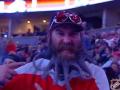 Бородач оригинально болел за Вашингтон на хоккейном матче