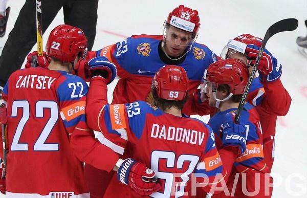 Сборная России забила десять шайб датчанам