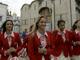 В Пекин с благословением: В момент, когда олимпийцы выходили из Успенского собора, пошел дождь