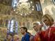 Во время службы, на которую российские атлеты отправились сразу после приема у президента России, епископ Амвросий прочитал молебен Перед началом доброго дела