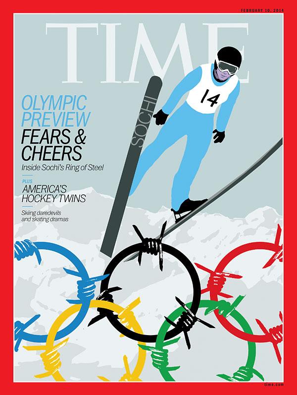 Американская обложка журнала Time, посвященная Олимпиаде в Сочи