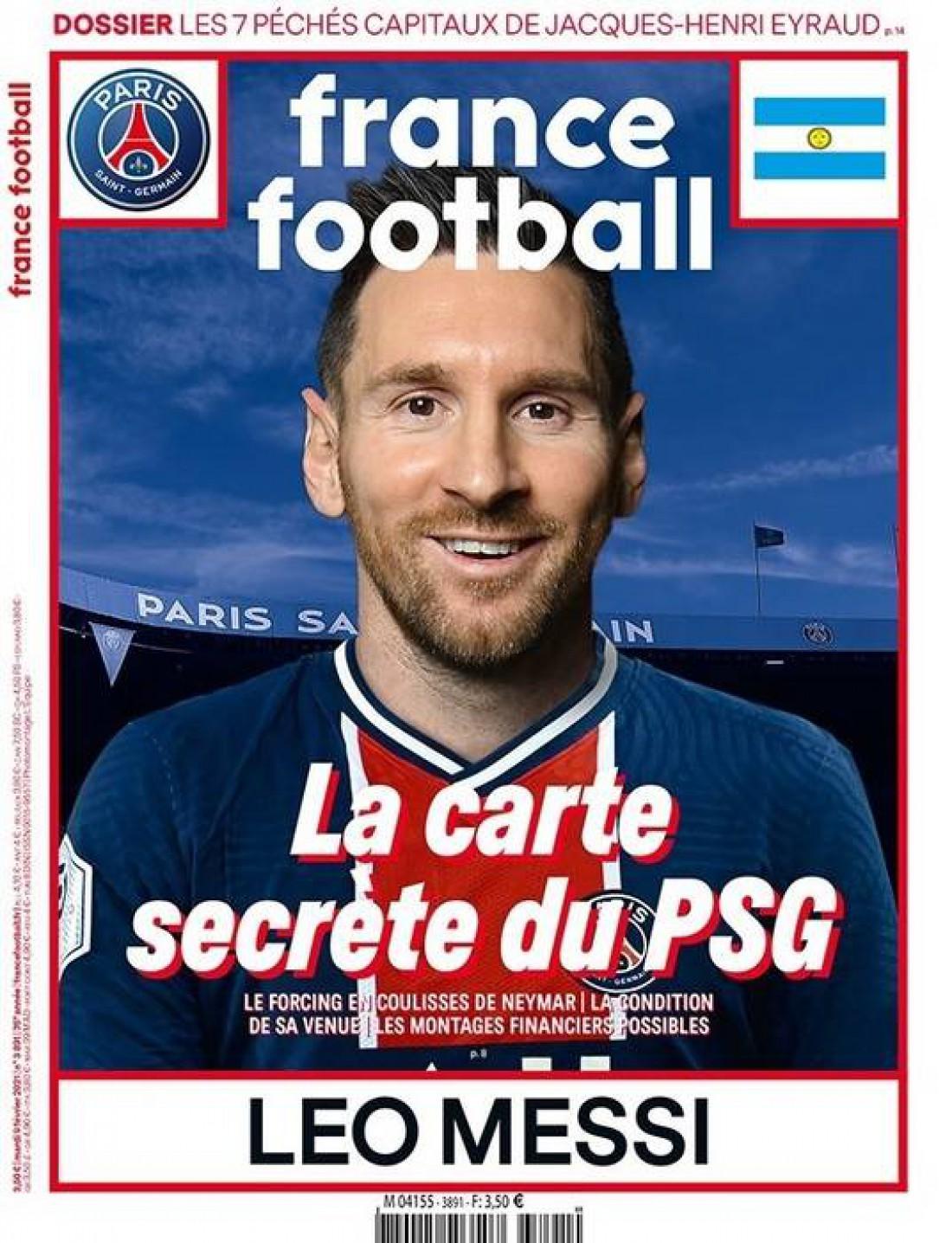Лионель Месси на обложке France Football