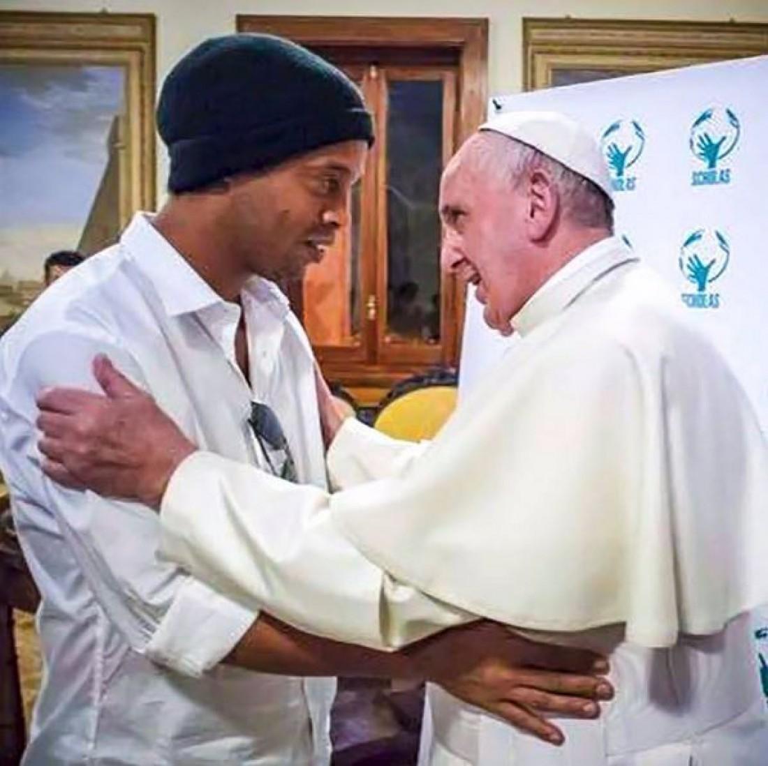 Встреча Роналдиньо с Папой