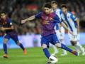 Барселона с минимальный счетом обыграла Эспаньол