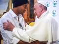 Роналдиньо встретился с Папой Римским в Ватикане