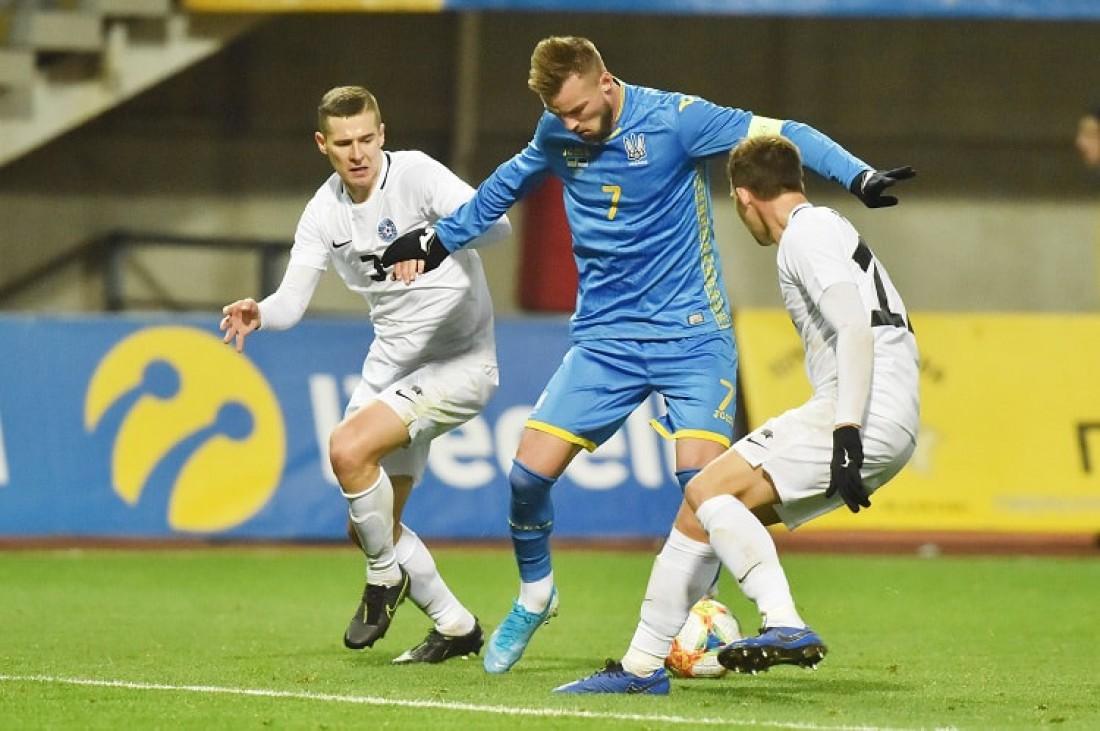 Украина - Эстония: видео обзор матча