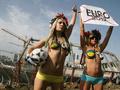 Обнаженные девушки в Киеве протестовали против Евро-2012