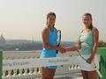 Ана Иванович и Виктория Азаренко сыграли в мини-теннис