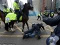 В Англии фанат с кулаками напал на полицейскую лошадь (ФОТО, ВИДЕО)