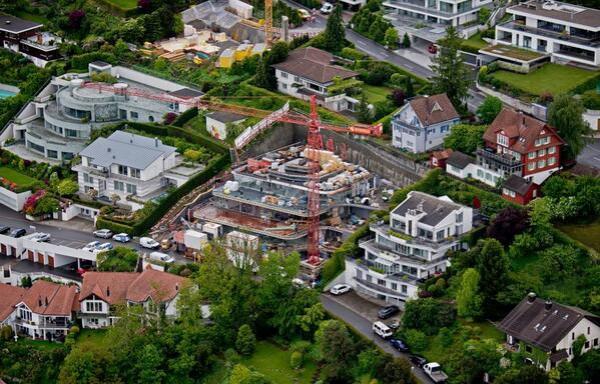 Строительство дома Федерера в Воллерау