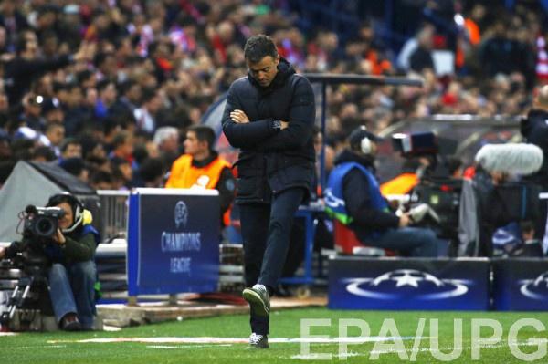 Луис Энрике во время матча