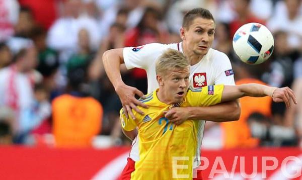 Александр Зинченко в матче с Польшей на Евро-2016