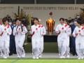 Факел с олимпийским огнем потух в первый день эстафеты