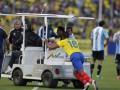 Футболист сборной Аргентины удален за удар водителя электрокара ногой (ВИДЕО)