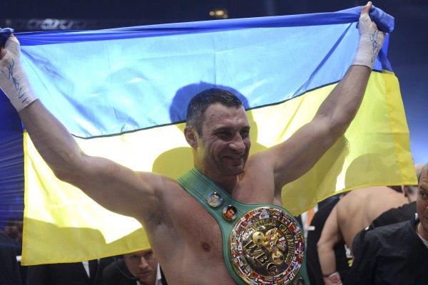 Виталий Кличко после боя с Чарром