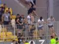 Опубликовано видео, как фанаты пытались устроить драку на матче Днепр - Копенгаген