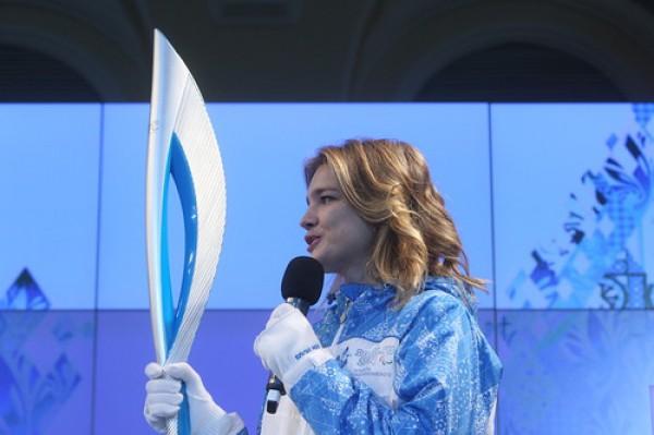 Факел Олимпийских игр в Сочи-2014