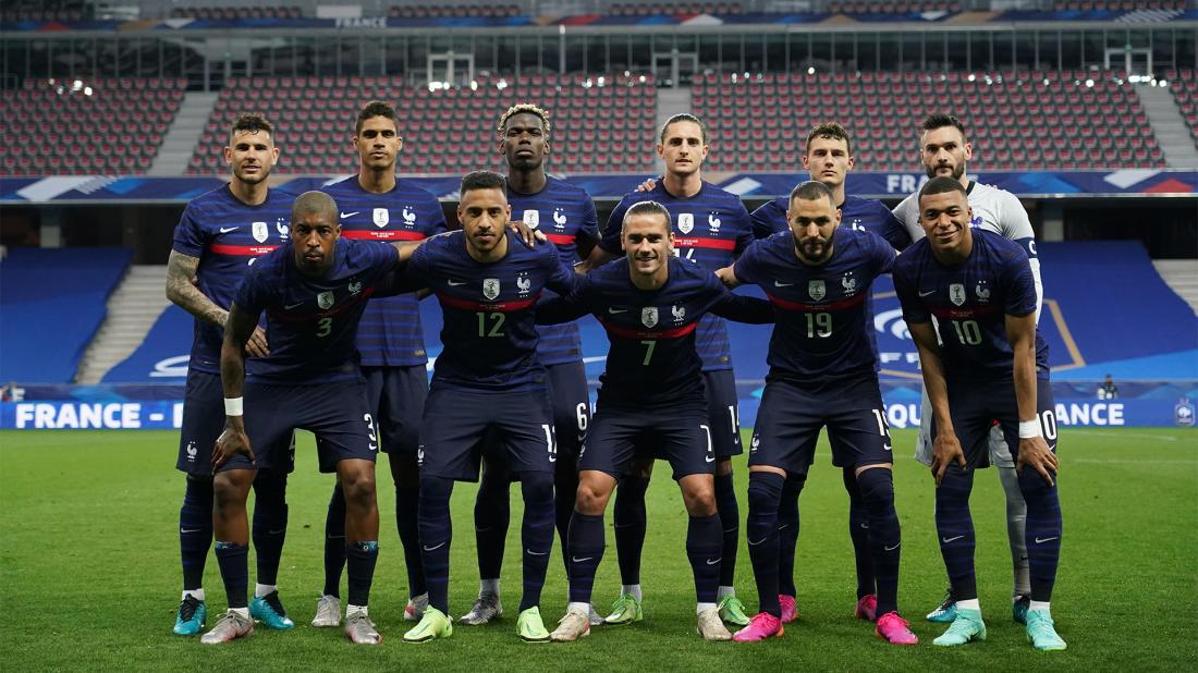 Сборная Франции перед матчем с Уэльсом