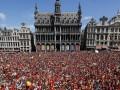 Сборную Бельгии в Брюсселе встретили тысячи болельщиков