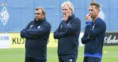 Динамо провело первую тренировку под руководством нового тренера