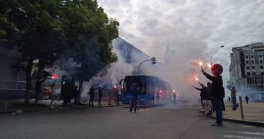 Фанаты Динамо красиво встретили команду перед матчем с Шахтером