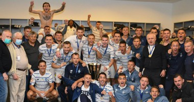 Бурная радость и пицца: Как Динамо праздновало победу над Шахтером в Суперкубке