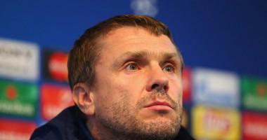 Ребров посетил матч Динамо - Шахтер