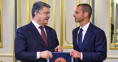 Порошенко встретился с президентом УЕФА