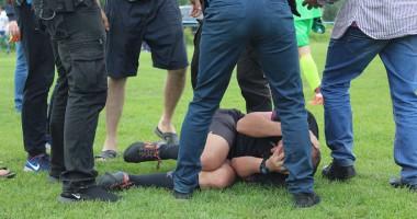 На Закарпатье болельщики жестоко избили арбитра во время матча