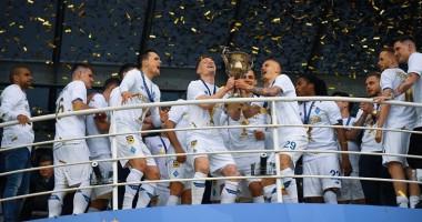 Как Динамо отпраздновало победу в чемпионате Украины