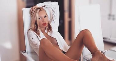 Ирина Морозюк разделась, выполняя оригинальный трюк