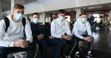 Сборная Украины отправилась в Польшу