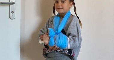 Дочка Пятова сломала руку, упав с гироскутера
