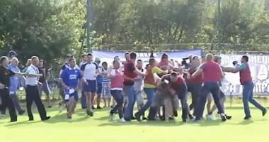 Болельщики Днепра устроили массовое побоище на матче Кубка Украины