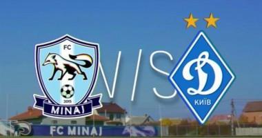 Минай - Динамо 1:3 видео онлайн трансляция матча Кубка Украины