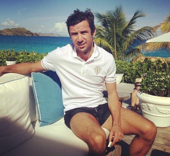 Дарио Срна наслаждается заслуженным отдыхом