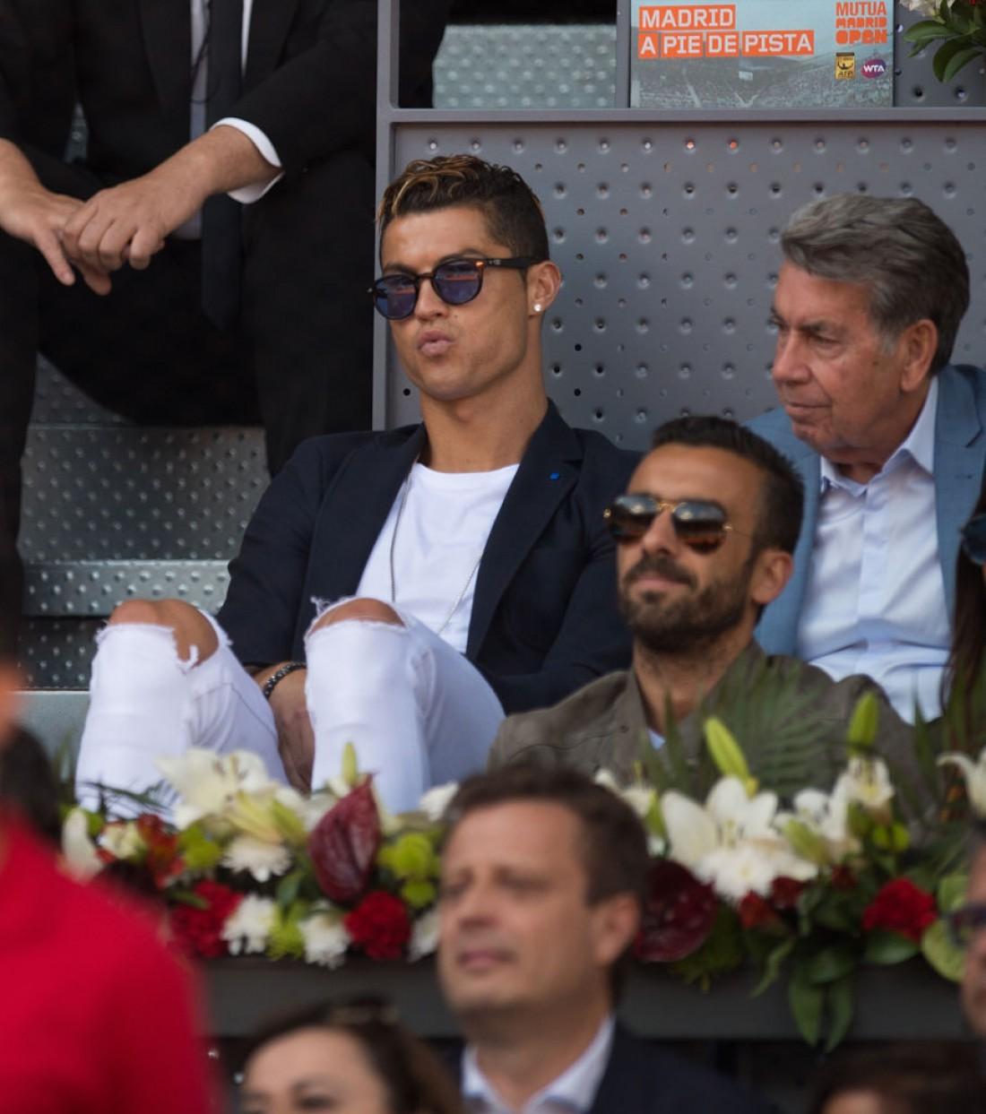 Криштиану Роналду посетил теннисный матч