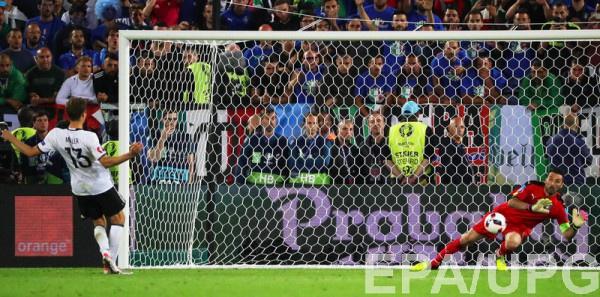 Германия и Италия выдали длинную серию пенальти