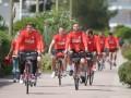 Соперник сборной Украины провел тренировку на велосипедах