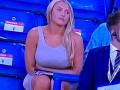 Девушка на трибунах с большой грудью стала звездой матча Англии