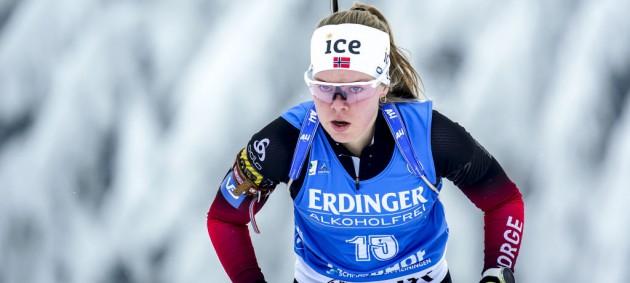 Экхофф выиграла спринт в Оберхофе, Джима финишировала 24-й