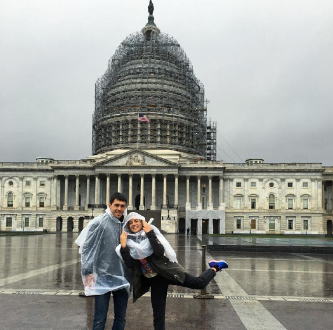 Сергей Кравченко вместе с супругой проводит отпуск в США