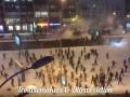 Видео массовых беспорядков между украинскими и турецкими фанатами