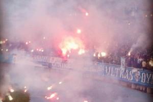 Киев в дыму. Как фанаты Динамо зажигали на стадионе