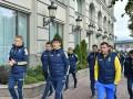 Сборная Украины прогулялась по Подолу перед матчем с Хорватией