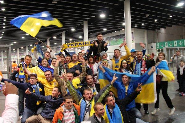 Наши ребята отлично болели за Украину