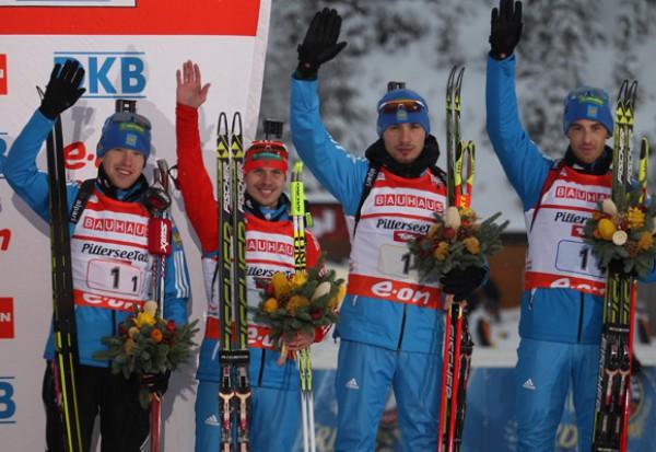 Россия заняла третье место в мужской эстафете