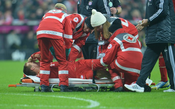 В декабре 2012 года игрок Баварии получил тяжелую травму
