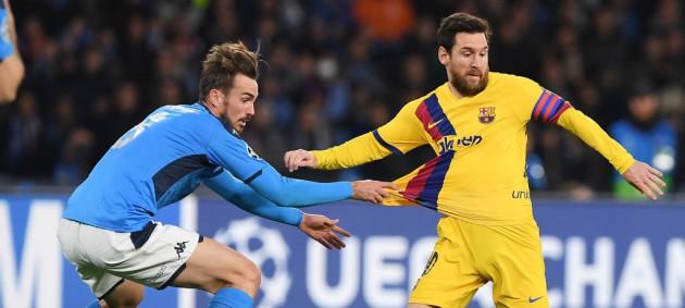 Наполи и Барселона не сумели выявить победителя в матче Лиги чемпионов